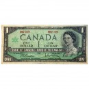 1967 Bank of Canada $1 Dollar Date Note Centennial of Canadian Confederation (Circulated)