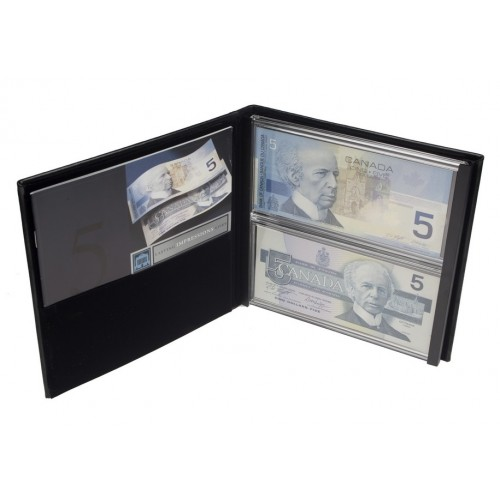 1986-2001 Bank of Canada $5 Dollar Bill, Lasting Impressions Dual Series Collector's Set
