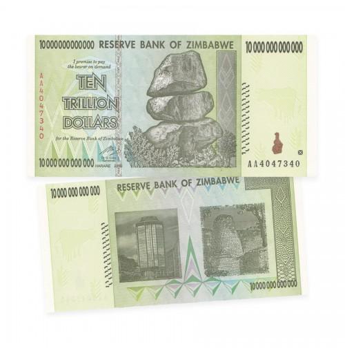 Reserve Bank of Zimbabwe $10 Trillion Dollar Banknote (2008)