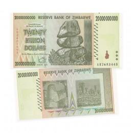 Reserve Bank of Zimbabwe $20 Billion Dollar Banknote (2008)