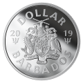 2019 Barbados $1 The Bat Signal™ Fine Silver Dollar Coin (Glow-in-the-Dark)-2 on order