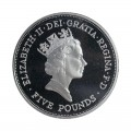 1990 British Sterling Silver Proof Crown £5 Coin - Queen Mother's 90th Birthday