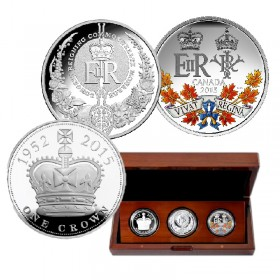 2015 Australia, Canada, Great Britain A Historic Reign - The Royal Silver Collection