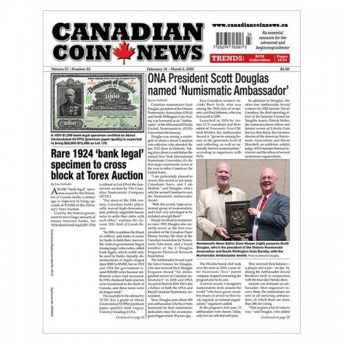 2020 Canadian Coin News Vol 57 #23, Feb 18 - Mar 2