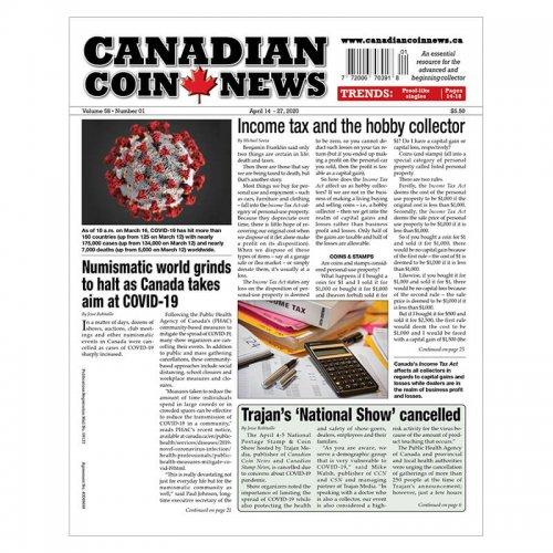 2020 Canadian Coin News Vol 58 #01, Apr 14 - Apr 27