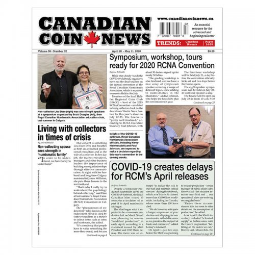 2020 Canadian Coin News Vol 58 #02, Apr 28 - May 11