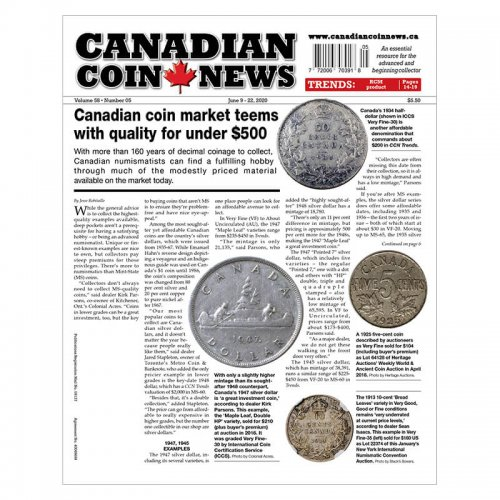 2020 Canadian Coin News Vol 58 #05, Jun 9 - Jun 22