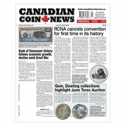 2020 Canadian Coin News Vol 58 #06, Jun 23 - Jul 6
