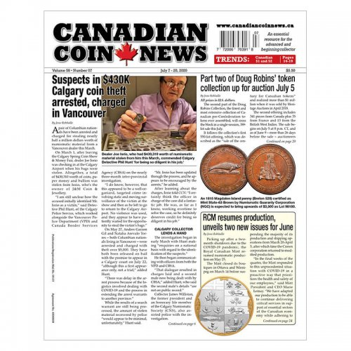 2020 Canadian Coin News Vol 58 #07, Jul 7 - Jul 20