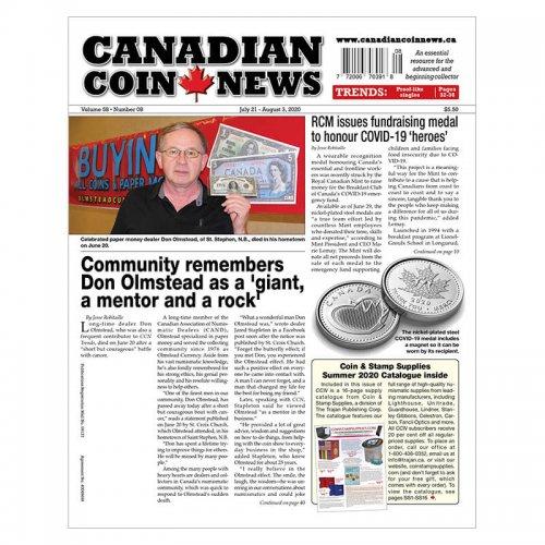 2020 Canadian Coin News Vol 58 #08, Jul 21 - Aug 3