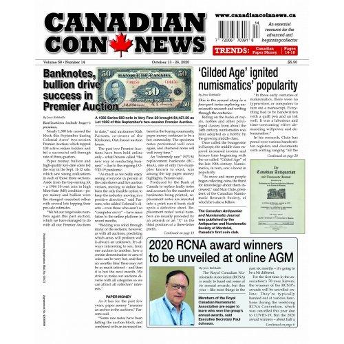 2020 Canadian Coin News Vol 58 #14, Oct 13 - Oct 26