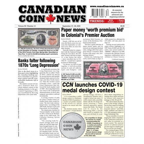 2020 Canadian Coin News Vol 58 #12, Sep 15 - Sep 28