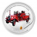 2005 Cook Islands $1 Fire Engines of the World: 1932 Bickle Triple Combination Pumper 1 oz Silver Dollar Coin