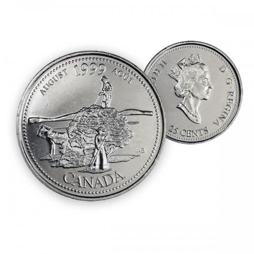 1999 Canada Millennium Series 25-cent August (Brilliant Uncirculated)