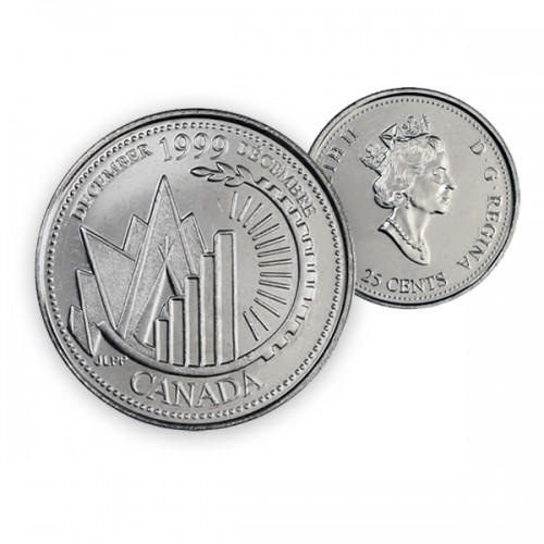1999 Canada Millennium Series 25-cent December (Brilliant Uncirculated)