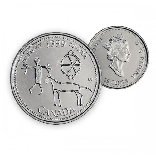 1999 Canada Millennium Series 25-cent February (Brilliant Uncirculated)