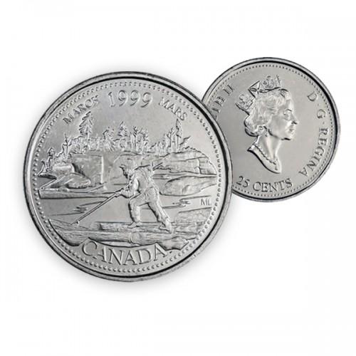 1999 Canada Millennium Series 25-cent March (Brilliant Uncirculated)