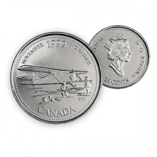 1999 Canada Millennium Series 25-cent November (Brilliant Uncirculated)