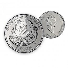 2000 Canada Millennium Quarters Series 25 Cent Coin - Achievement (Brilliant Uncirculated)