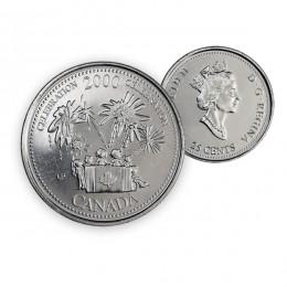 2000 Canada Millennium Quarters Series 25 Cent Celebration Coin (Brilliant Uncirculated)