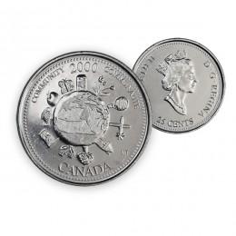 2000 Canada Millennium Quarters Series 25 Cent Community Coin (Brilliant Uncirculated)