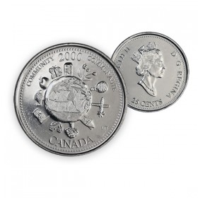2000 Canada Millennium Series 25-cent Community (Brilliant Uncirculated)