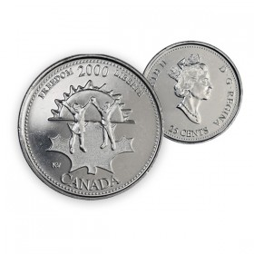 2000 Canada Millennium Series 25-cent Freedom (Brilliant Uncirculated)