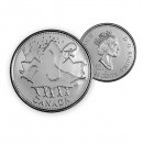 2002 P 135th Anniversary Canada Day 25-cent (Brilliant Uncirculated)