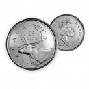 2002 P Canada Caribou 25-cent (Brilliant Uncirculated)
