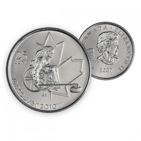2007 Vancouver 2010 Paralympics 25-cent Wheelchair Curling (Brilliant Uncirculated)