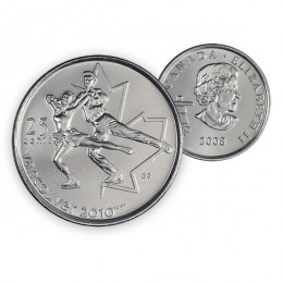 2008 Canada Vancouver 2010 Olympics 25-cent Figure Skating (Brilliant Uncirculated)