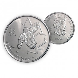 2009 Vancouver 2010 Paralympics 25-cent Ice Sledge Hockey (Brilliant Uncirculated)