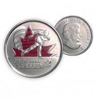 2009 Canada Golden Moments 25-cent Cindy Klassen 2006 Coloured (Brilliant Uncirculated)