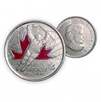 2009 Canada Golden Moments 25-cent Men's Hockey 2002 Coloured (Brilliant Uncirculated)
