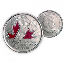 2009 Canada Golden Moments 25-cent Men's Hockey 2002 Coloured (Brilliant Uncirculated)