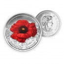 2015 Canada 25 Cent Circulation Coin - Remembrance Poppy Coloured (Brilliant Uncirculated)
