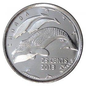 Veteran Commemorative Coins 2010 Colour Poppy Set of Ten Canadian 25 Cent