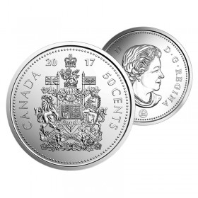 2017 Canadian 50 Cent Coat of Arms Circulation Coin (Brilliant Uncirculated)