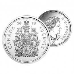 2018 Canadian 50-Cent Coat of Arms Circulation Coin (Brilliant Uncirculated)