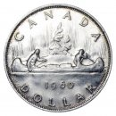 1960 Canadian $1 Voyageur Silver Dollar Coin (EF or better)