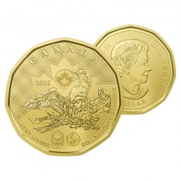 2016 Canadian $1 Olympic Lucky Loonie Dollar Coin (Brilliant Uncirculated)