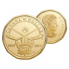 2017 (1917-) Canadian $1 Toronto Maple Leafs® 100th Anniv Loonie Dollar Coin (Brilliant Uncirculated)