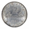 1935 Canadian $1 Voyageur/25th Anniv Commemorative Silver Dollar Coin (VF - EF )