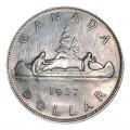 1937 Canadian $1 Voyageur Silver Dollar Coin ( EF)