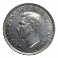 1938 Canadian $1 Silver Dollar - Voyageurs Coin (Circulated)