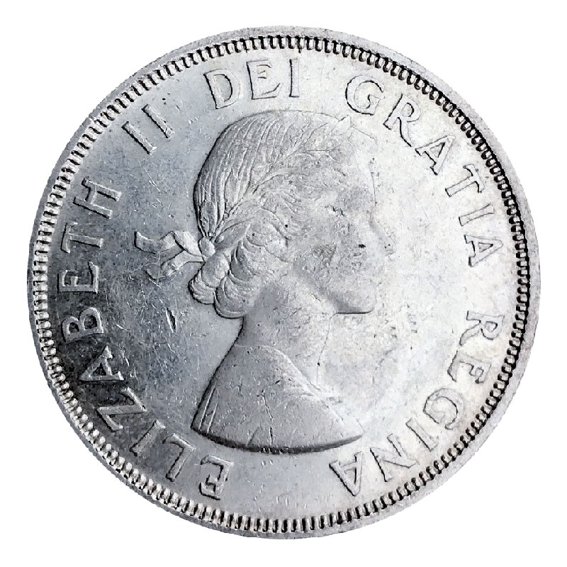 1964 (1864-) Canadian $1 Confederation Meetings Commemorative Silver Dollar  Coin (EF or better)
