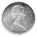 1966 LARGE BEADS Canadian $1 Voyageur Silver Dollar Coin (EF or better)