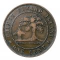 1871 Prince Edward Island 1-Cent Large Penny Coin (Circulated)