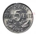 1922 NEAR RIM Canada 5 Cents Nickel Roll (Circulated)