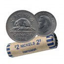 1942 Canada 5 Cents Nickel Roll (Circulated)